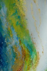Detail bijenwas schilderij